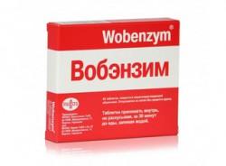 Вобэнзим, табл. п/о кишечнораств. №40
